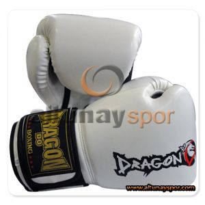 Dragon Attack Kick Boks Eldiveni Beyaz