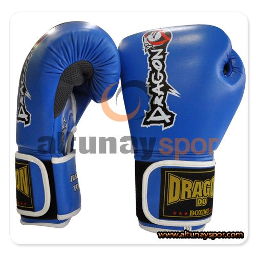 Dragon Attack Kick Boks Eldiveni Mavi